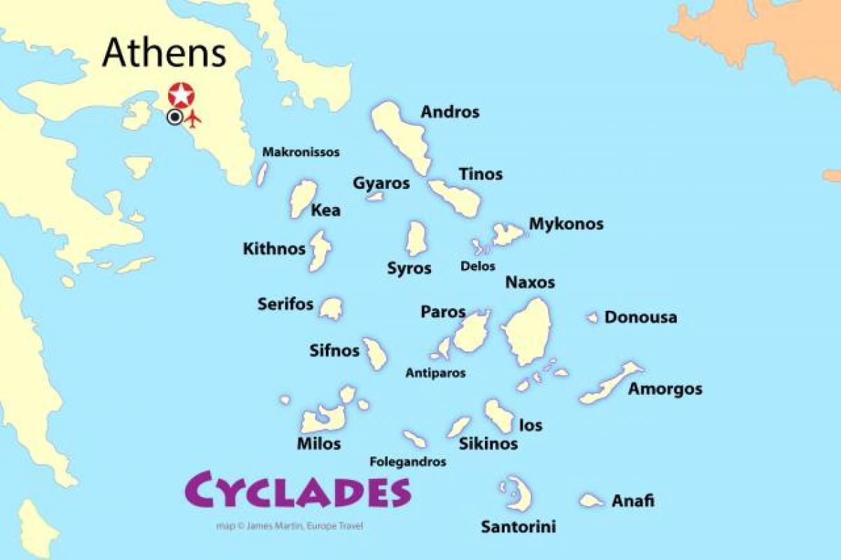 Carte Grece Iles.Athenes Les Iles De La Carte Iles Grecques Pres D